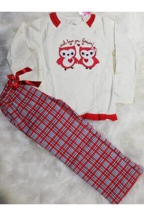 Wonder Kıds Kız Çocuk Ekru Wonder Kids Mevsimlik Pijama Takımı