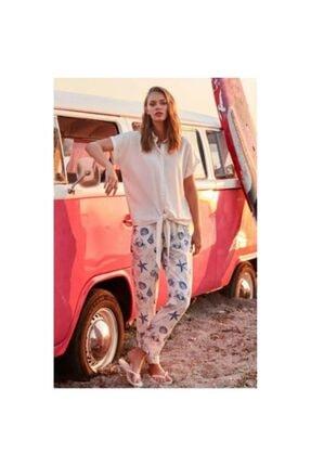 Penyemood Kadın Bej Deniz Yıldızı Pijama Takım 8753