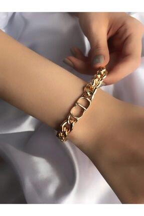 MedBlack Jewelry Kadın Altın Renk Christian Dior Model Kaplama Bileklik