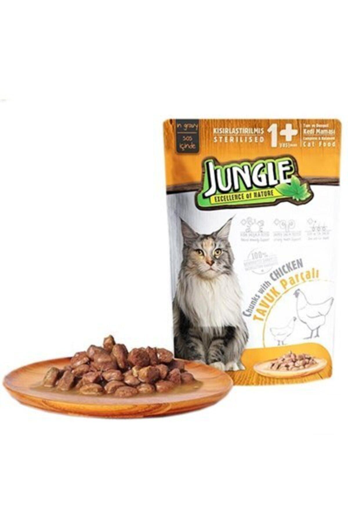 Jungle Pouch Kısır Kedi Tavuklu Jelli Yaş Mama 1