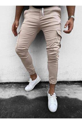 Oksit Zoom Düz Paçası Ve Beli Lastikli Slim Fit Kargo Pantolon