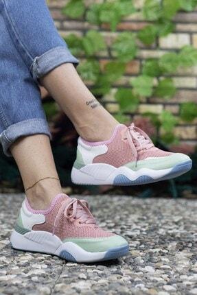 Riccon Kadın Pembe Sneaker 0012102