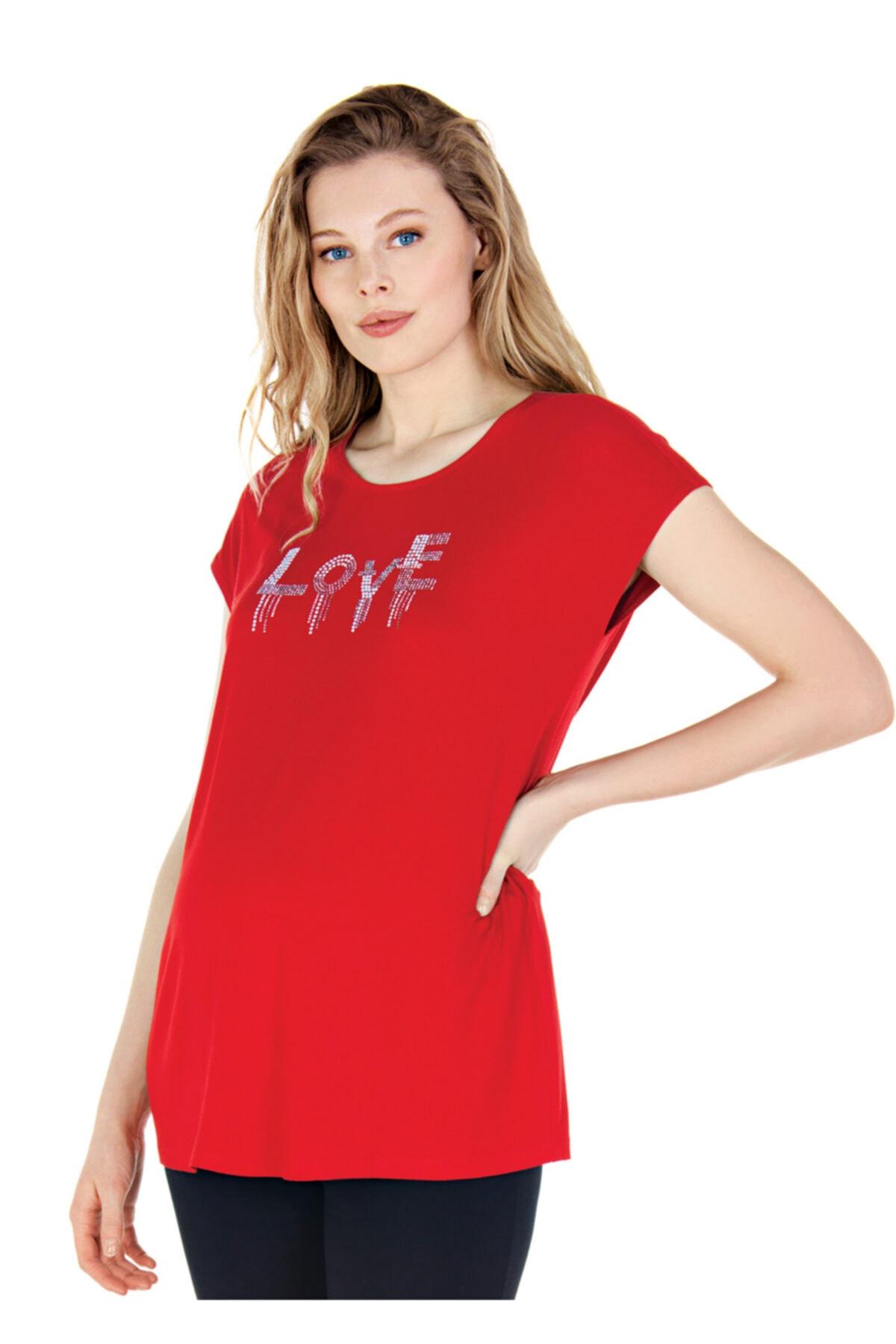 Ebru Maternity Kırmızı Hamile Tişörtü 1