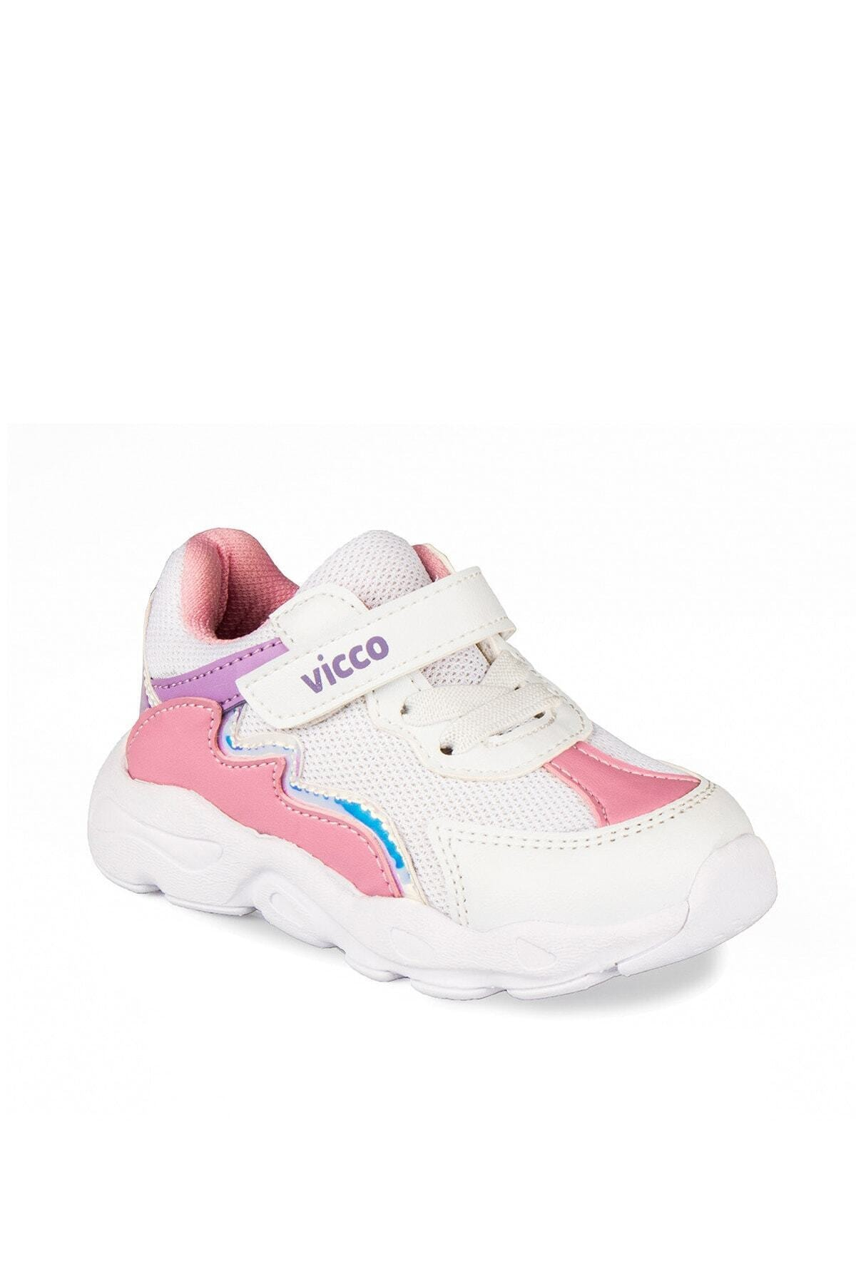 Vicco 346.P20Y.205 Beyaz Kız Çocuk Koşu Ayakkabısı 100578804 1