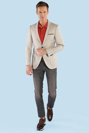 W Collection Erkek Bej Balık Sırtı Ceket