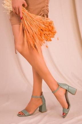 SOHO Yeşil Kadın Klasik Topuklu Ayakkabı 15977