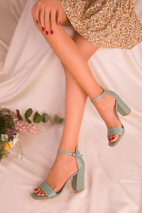 SOHO Yeşil Kadın Klasik Topuklu Ayakkabı 15976