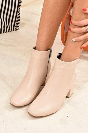 Fox Shoes Kadın Bej Deri Bot J518122209