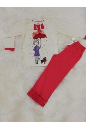 Wonder Kıds Wonder Kids Kız Çocuk Uzun Kol Mevsimlik Pijama Takımı