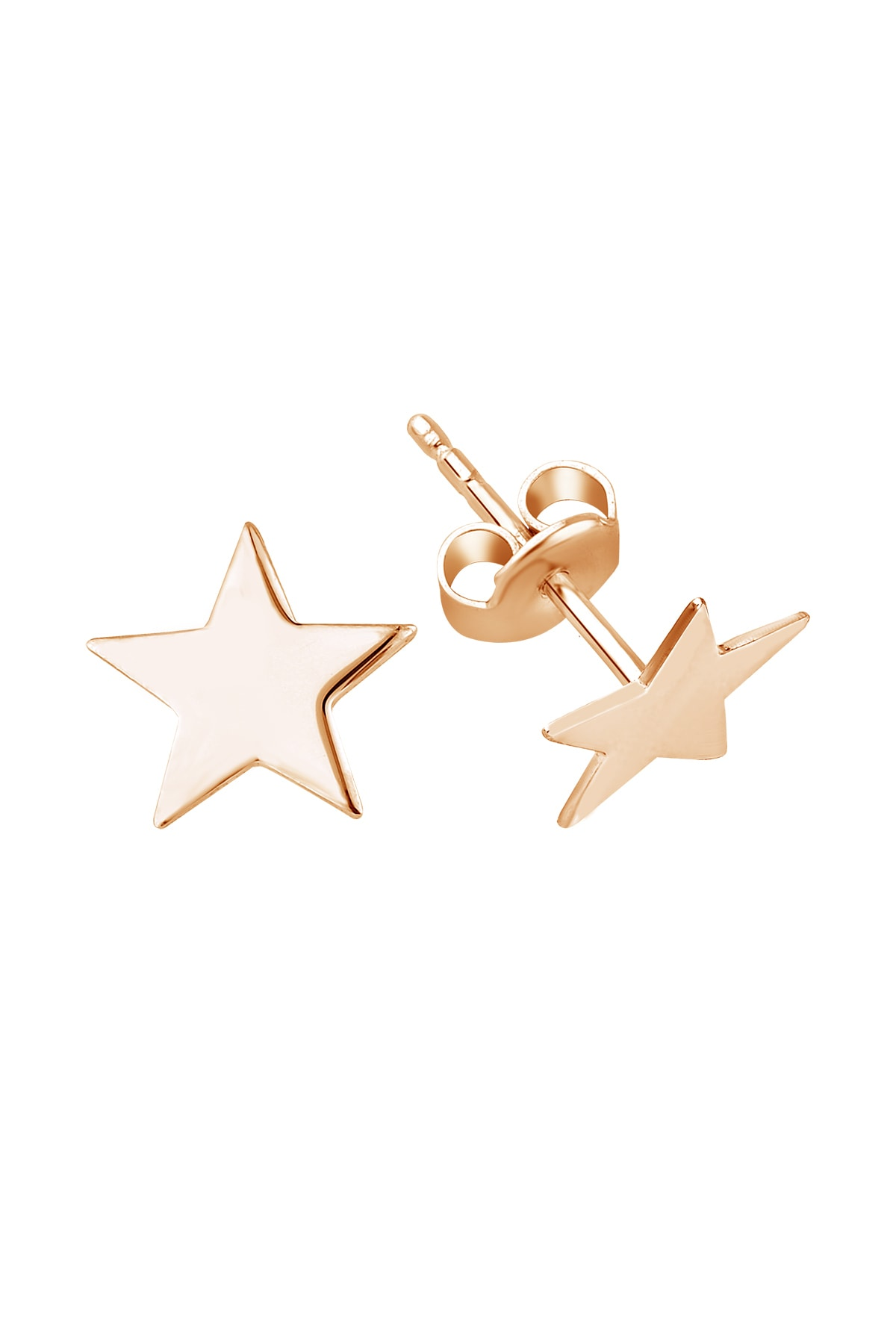 Girabella Jewellery Minimal Geometrik Yıldız Gümüş Çivi küpe KP0011 1