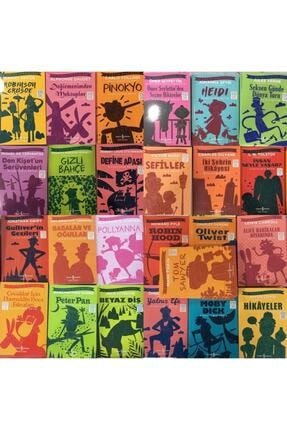 İş Bankası Kültür Yayınları Iş Bankası Çocuk Klasikleri, Kısaltılmış Metin, 100 Temel Eser, 25 Kitaplık Set