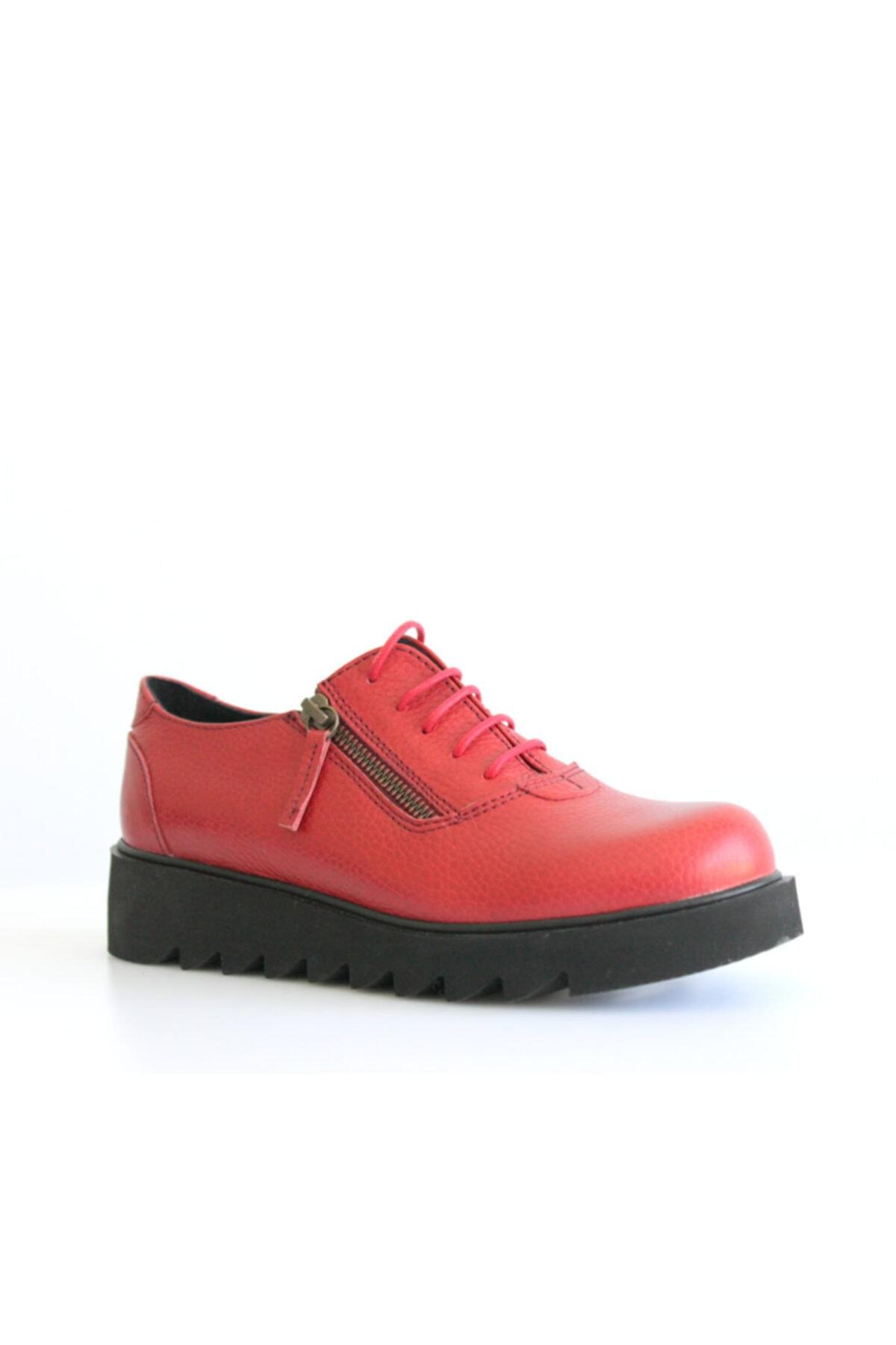 Beta Shoes Günlük Ayakkabı Hakiki Deri Kadın Kırmızı 1