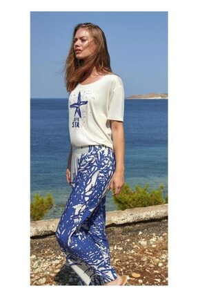 Penyemood Kadın Mavi 8754 Pijama Takım