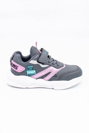 Jump Grı Pembe Çocuk Spor Ayakkabı
