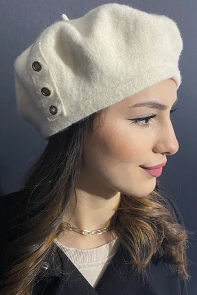 Bay Şapkacı Kadın Ressam Şapka Sap02k-9409 Krem