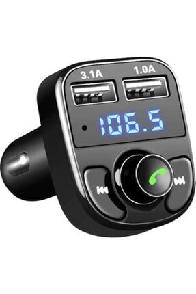 CONDOR Car X8 Araç Fm Transmitter,bluetooth,usb,mp3,sd Kart Çakmaklık Girişli Oto Müzik Çalar Kit