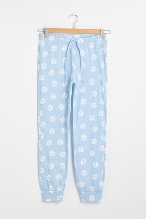 LC Waikiki Kadın Açık Mavi Baskılı Pijama Altı