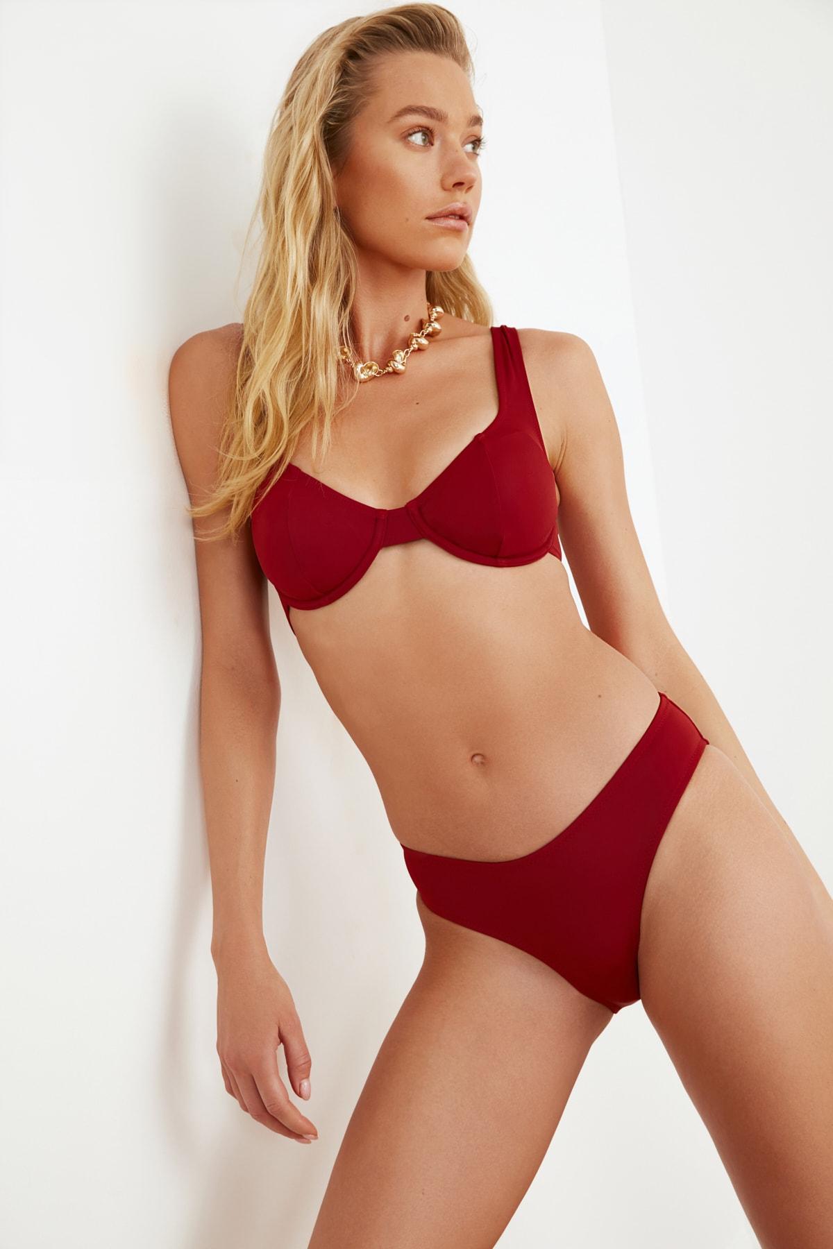 TRENDYOLMİLLA Kiremit Bikini Altı TBESS21BA0025 2