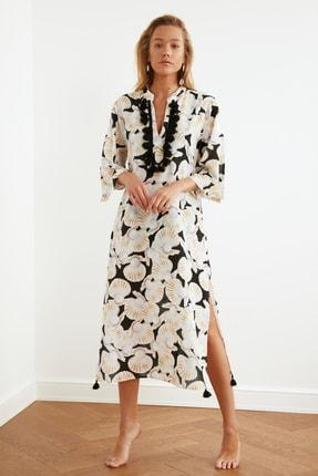 TRENDYOLMİLLA Vizon İnci Baskılı Vual Kimono&Kaftan TBESS20KM0024