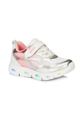 Vicco Kız Çocuk Gümüş Pembe Işıklı Phylon Spor Ayakkabı