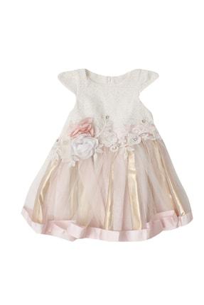 Pattaya Kids Kız Çocuk Tüllü Kısa Kollu Elbise