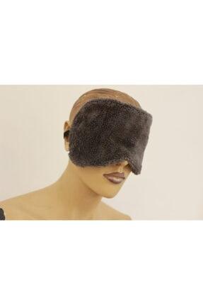 Ender Home Antrasit Havlu Yoga Göz Bandı Pamuk Polyester Göz Dinlendirici Uyku Bandı Uyku Stres Maskesi