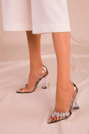 SOHO Şeffaf-Leopar Kadın Klasik Topuklu Ayakkabı 15957