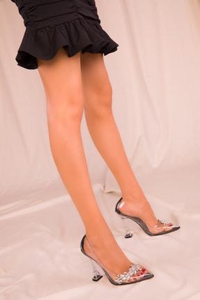 SOHO Şeffaf-Siyah Kadın Klasik Topuklu Ayakkabı 15957