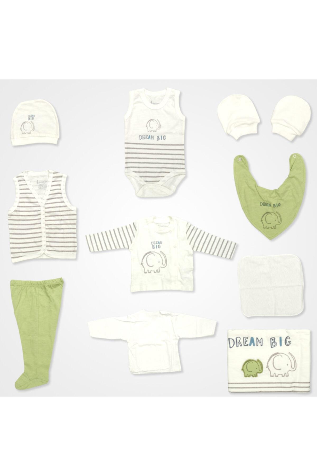 Bebbek Dream Big Filli Hastane Çıkış Seti 10'lu - Yeşil 1