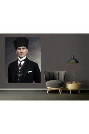 Syronix Atatürk Takım Elbiseli Portre Kanvas Tablo