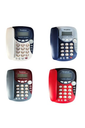 Panaphone Kx-t2838lm Çift Renk Kablolu Masaüstü Ev Telefonu - Caller Id Sabit Telefon