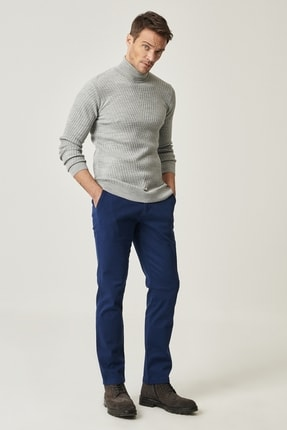 ALTINYILDIZ CLASSICS Erkek Lacivert Slim Fit Chino Pantolon