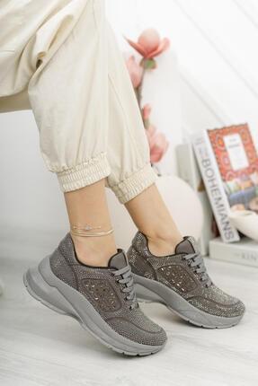 MORENİCA Aleza Taşlı Platin Kadın Spor Ayakkabı
