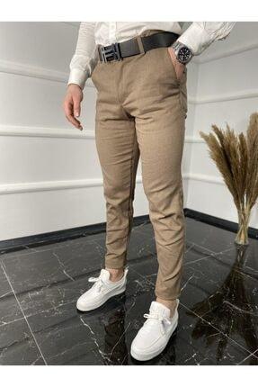 ukdwear Italyan Kesim Petek Desen Keten Pantolon