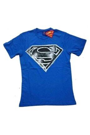 Superman Erkek Mavi T-shirt
