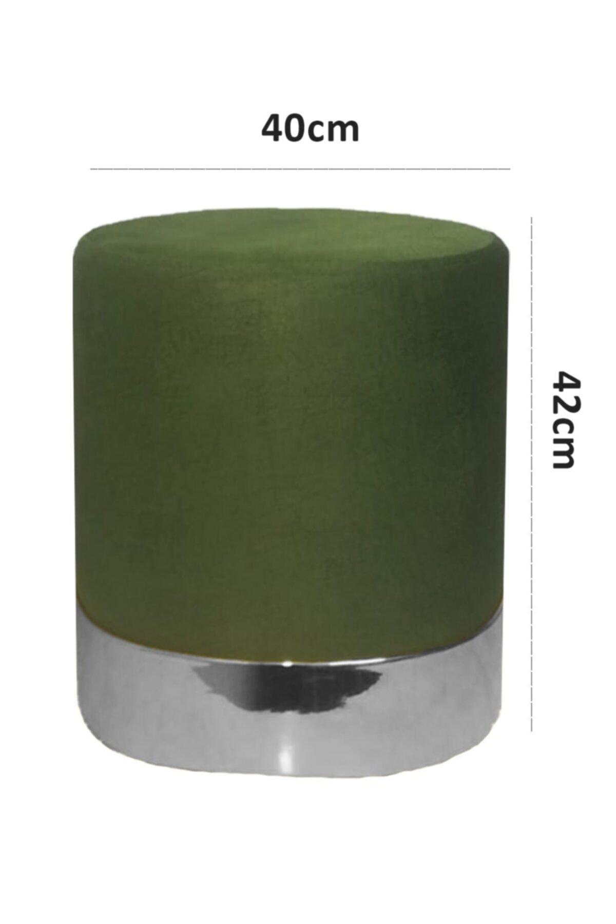 Zem Queen Green - Silver Puf 2