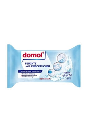 DOMOL Islak Temizlik Bezi Çok Amaçlı Ferahlık 50'li