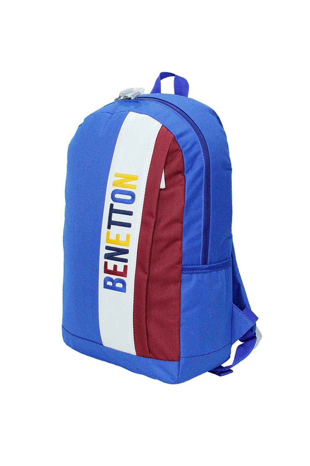 Benetton United Colors Of Sırt Okul Çantası 70063 Mavi 2