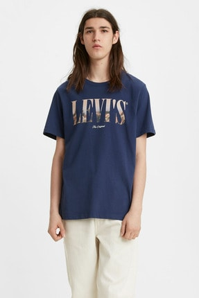Levi's Erkek Mavi Tshirt Levı´s® Relaxed Tee 16143-0054