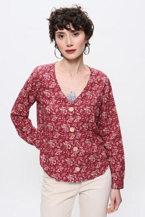 MANGO Woman Kadın Koyu Kırmızı Bluz 43095737