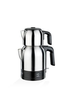 KORKMAZ Demkolik Satin/siyah Elektrikli Çaydanlık