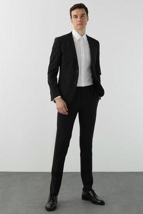Network Erkek Slim Fit Siyah Takım Elbise 1078620