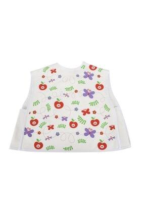 Sevi Bebe Körüklü Giymeli Önlük Art-515 Beyaz