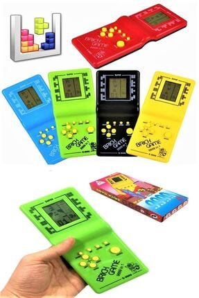 RoseRoi El Atarisi Tetris Oyun Konsolu Nostaljik Oyuncak Brick Game 9999 Oyunlu