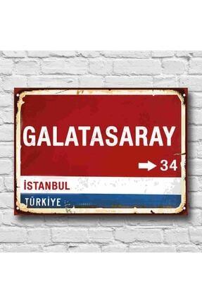 RETRO TABLO Galatasaray Yön Tabelası Retro Tablo