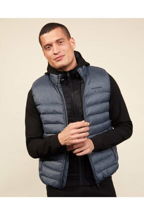 SKECHERS Outerwear M Basic Lightweight Vest Erkek Gri Yelek