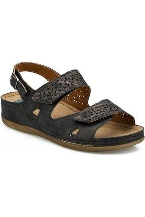 Polaris 161173.z Siyah Ortopedik Kadın Sandalet