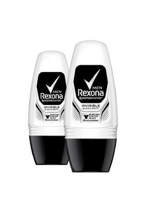 Rexona Erkek Deodorant Roll On Invisible Black White 50 Ml X2