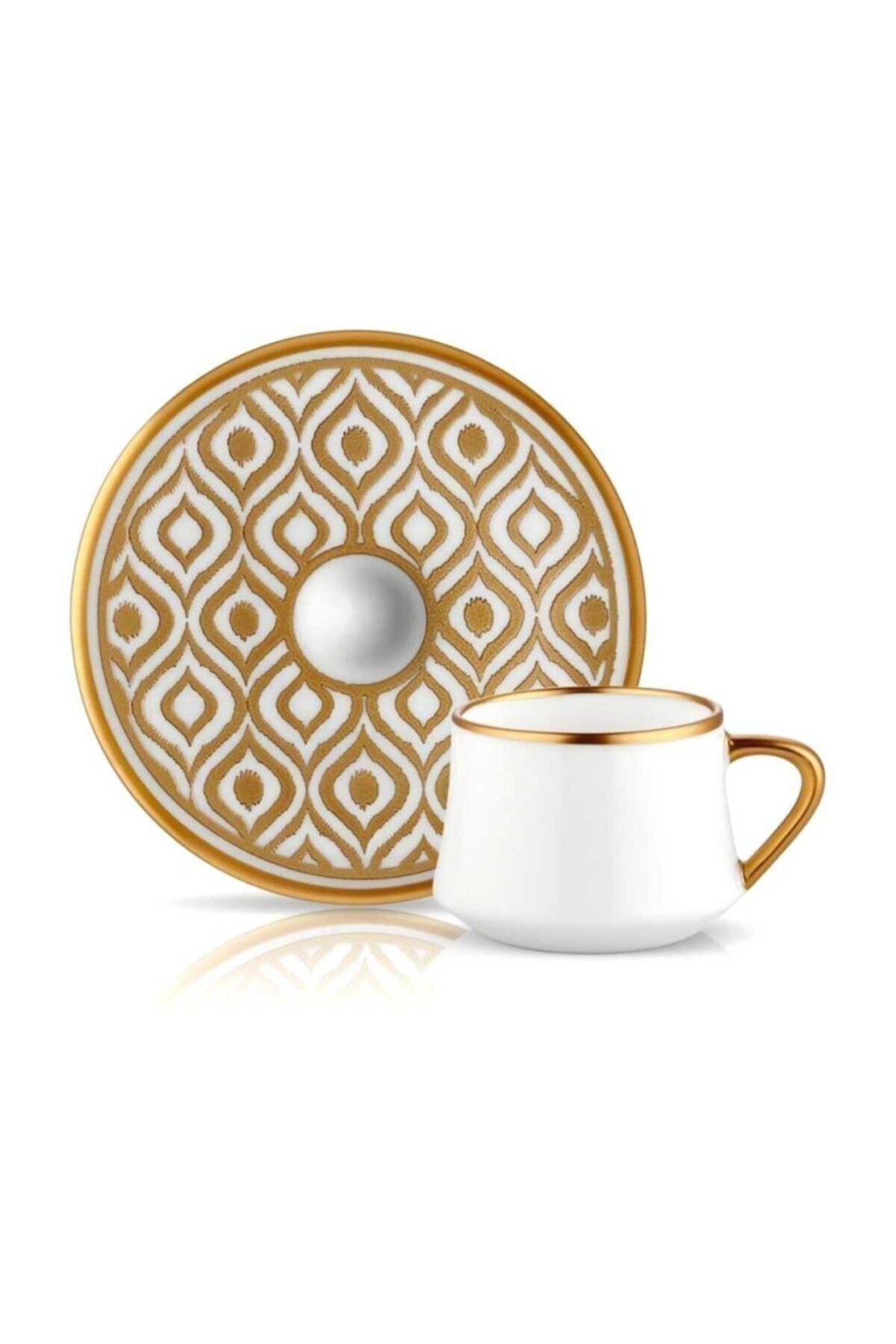 Koleksiyon1 6'lı İkat Altın Koleksiyon Sufi Türk Kahvesi Fincan Seti 1