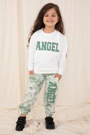 Kiwikido Kız Çocuk Angel Baskılı Eşofman Takımı